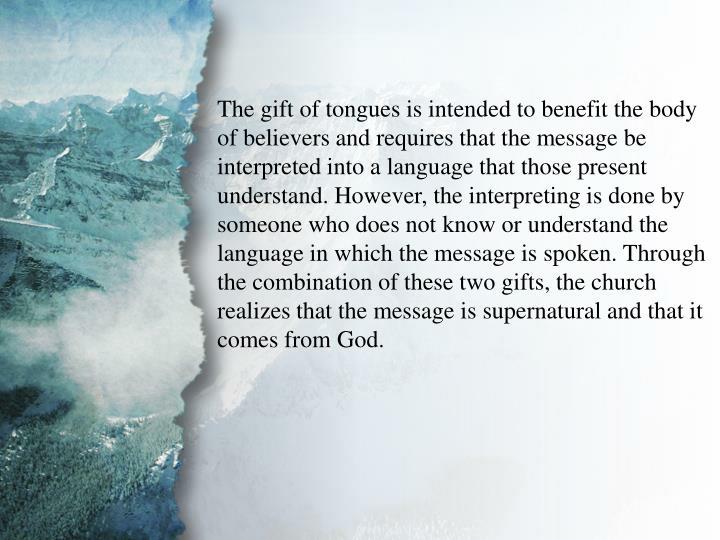 IV. Gifts of Communication (B)