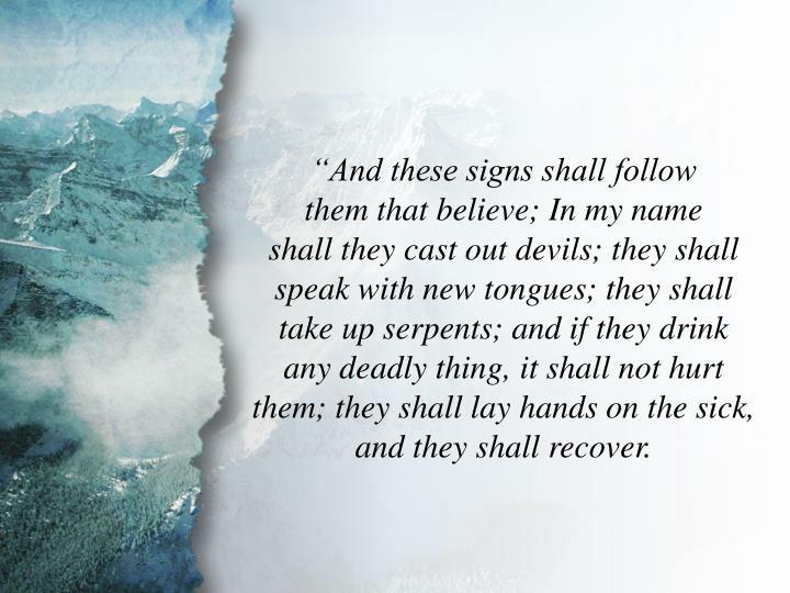Mark 16:17-18