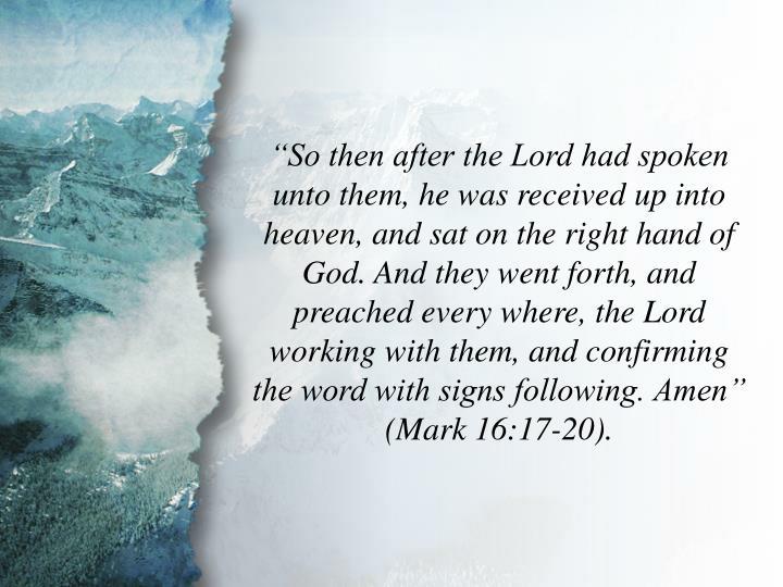 Mark 16:19-20