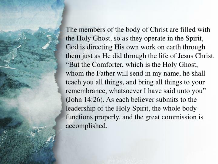 V. Gifts for Edification of the Body (A)