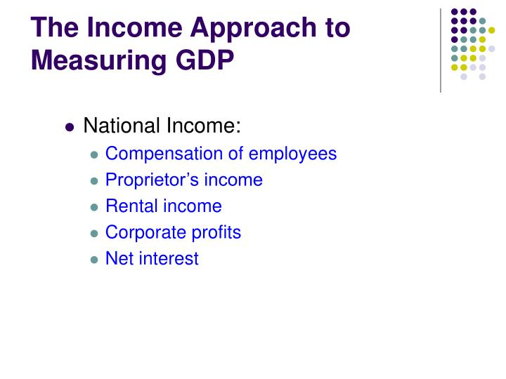 The Income Approach to Measuring GDP