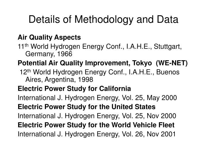 Details of Methodology and Data
