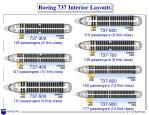 boeing 737 interior layouts