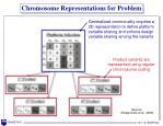 chromosome representations for problem