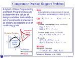 compromise decision support problem