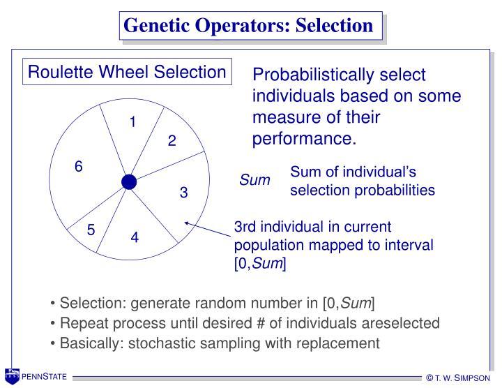 Genetic Operators: Selection