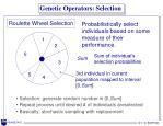 genetic operators selection
