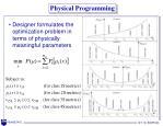 physical programming