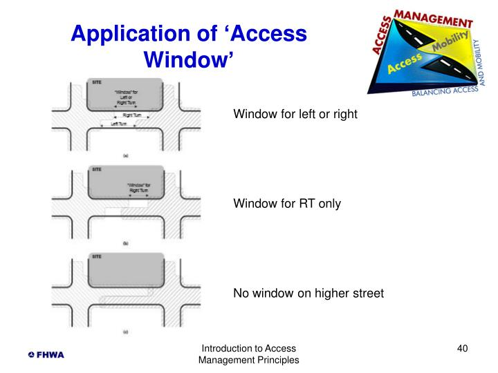 Application of 'Access Window'
