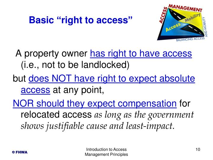 "Basic ""right to access"""