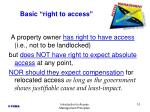 basic right to access
