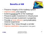 benefits of am