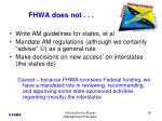 fhwa does not