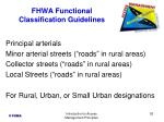 fhwa functional classification guidelines