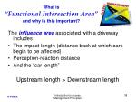 what is functional intersection area and why is this important