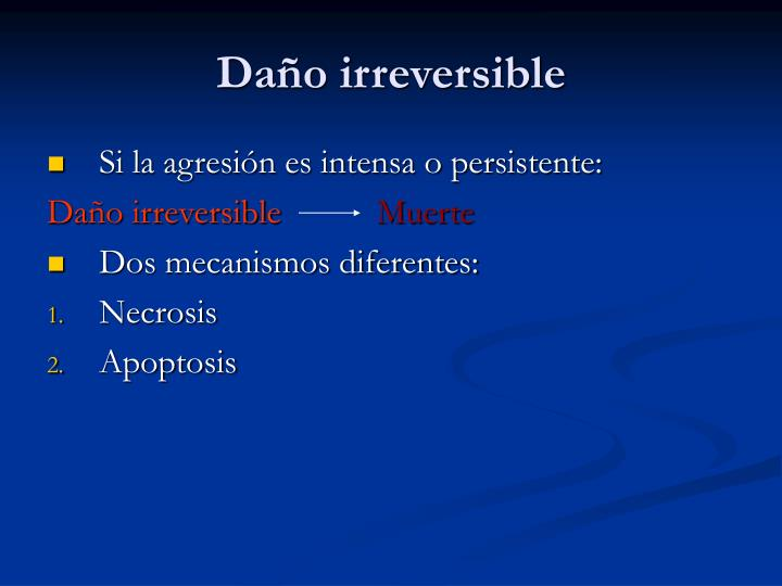Daño irreversible