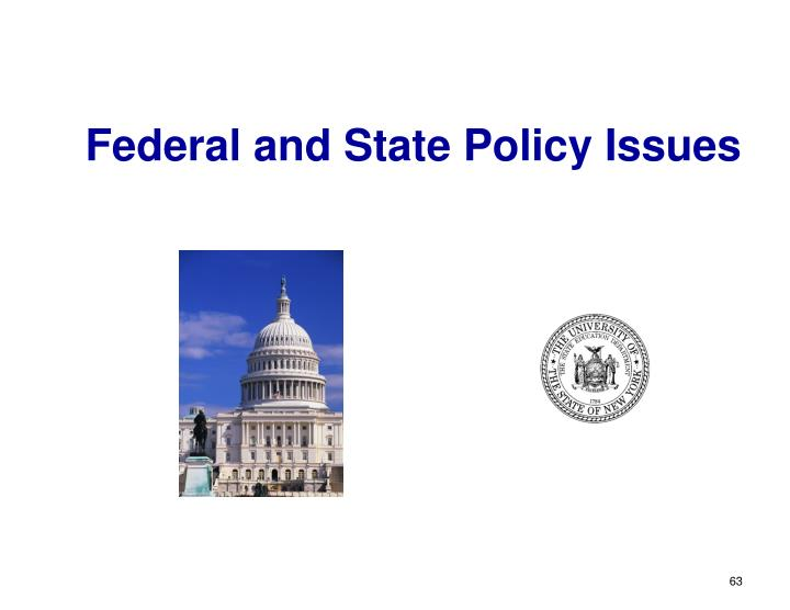 Federal and State Policy Issues