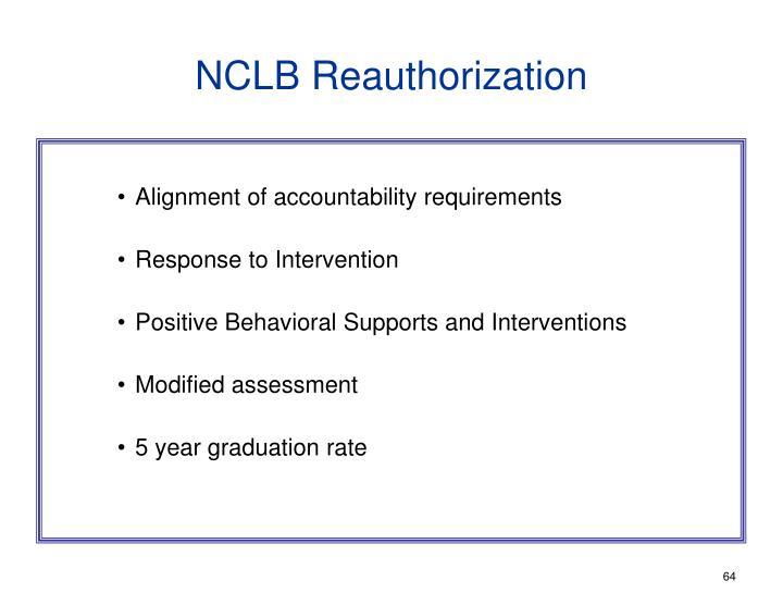 NCLB Reauthorization