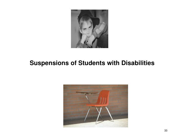 Suspensions of Students with Disabilities
