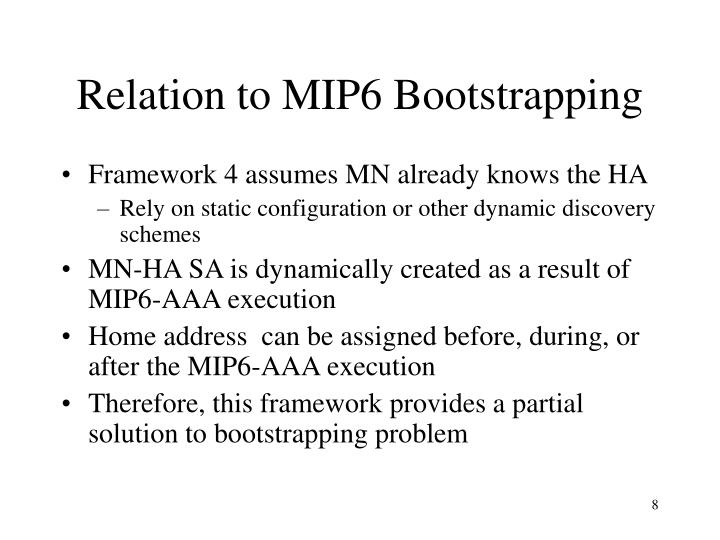 Relation to MIP6 Bootstrapping