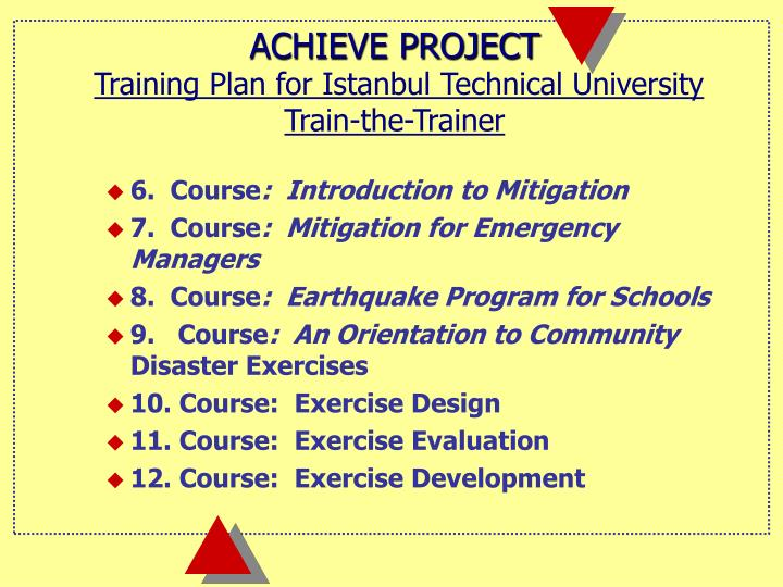 ACHIEVE PROJECT