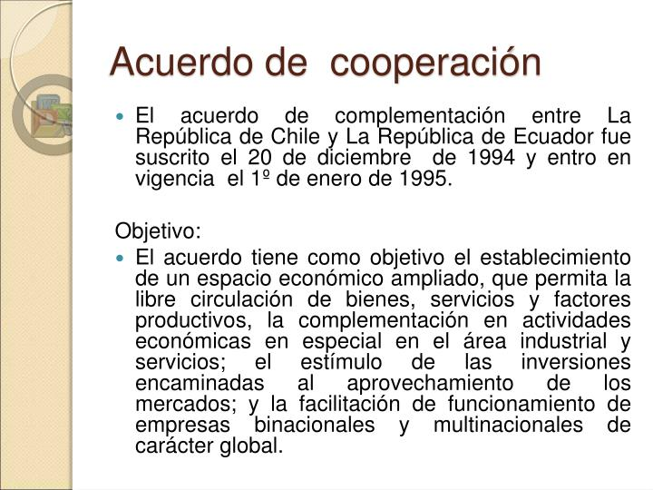 Acuerdo de  cooperación