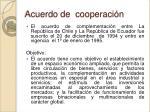 acuerdo de cooperaci n
