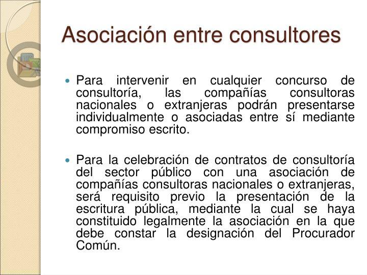 Asociación entre consultores