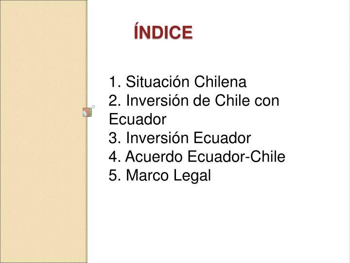 1. Situación Chilena