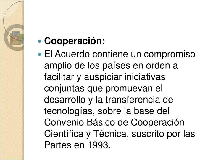 Cooperación: