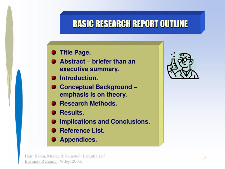 BASIC RESEARCH REPORT OUTLINE
