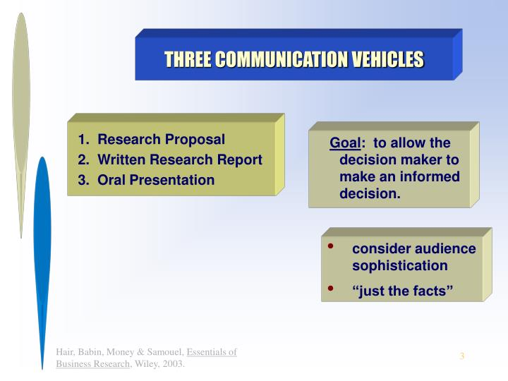THREE COMMUNICATION VEHICLES