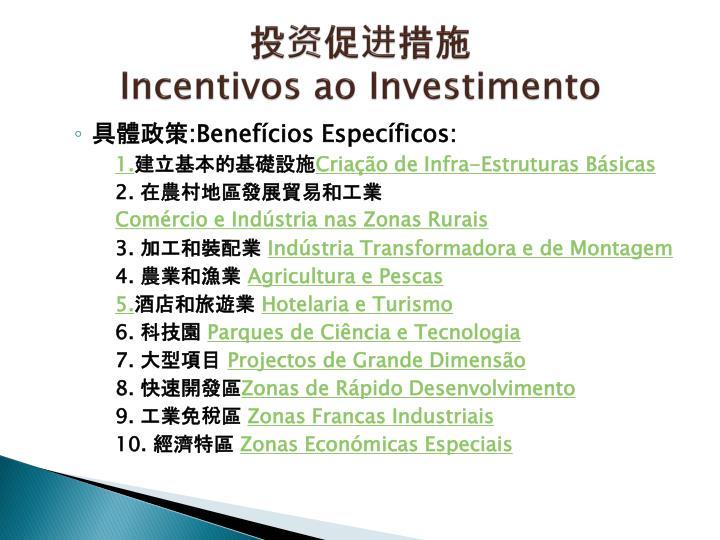 投资促进措施