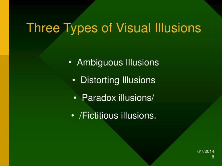 Three Types of Visual Illusions