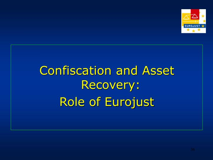 Confiscation and Asset Recovery: