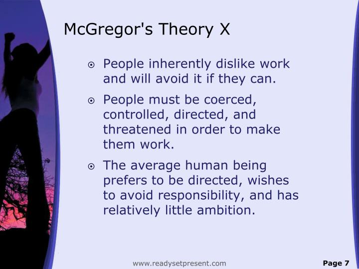 McGregor's Theory X