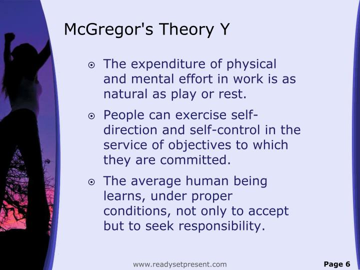 McGregor's Theory Y
