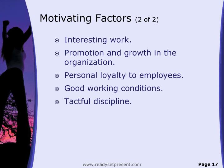 Motivating Factors