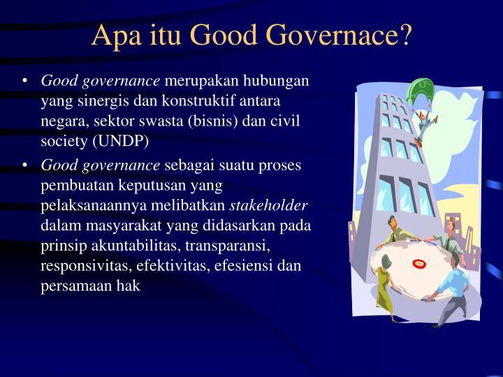 Apa itu Good Governace?