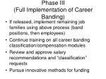 phase iii full implementation of career banding