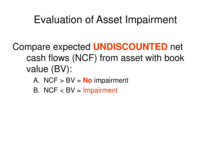 Evaluation of Asset Impairment
