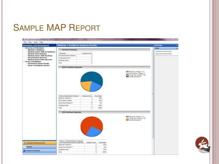 Sample MAP Report
