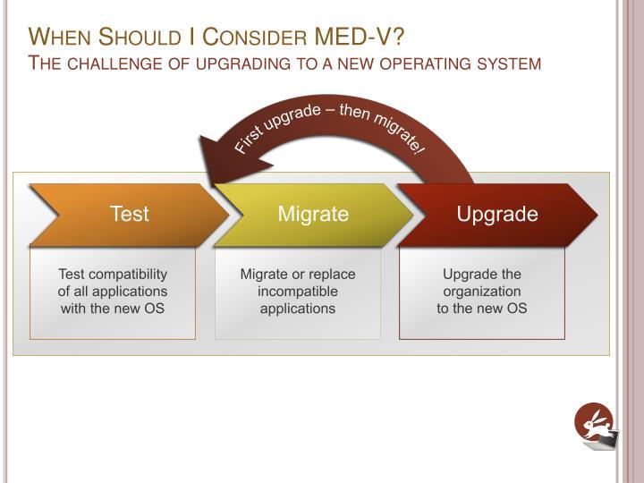 When Should I Consider MED-V?