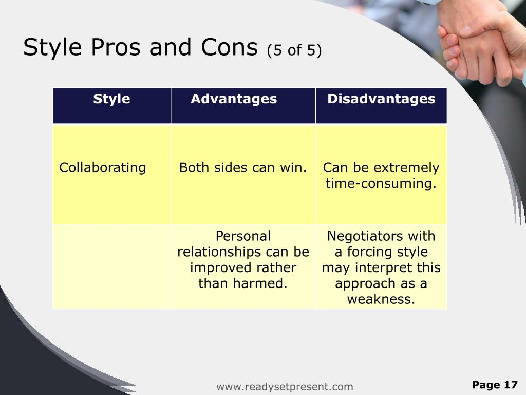 Style Pros and Cons