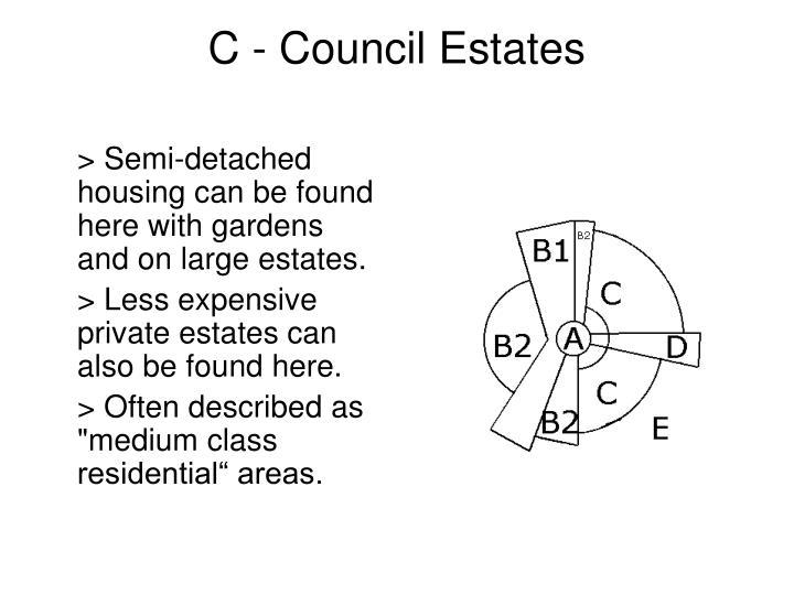 C - Council Estates