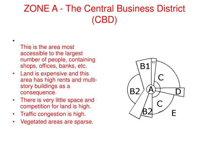 ZONE A - The Central Business District (CBD)