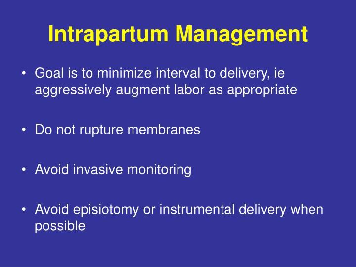 Intrapartum Management