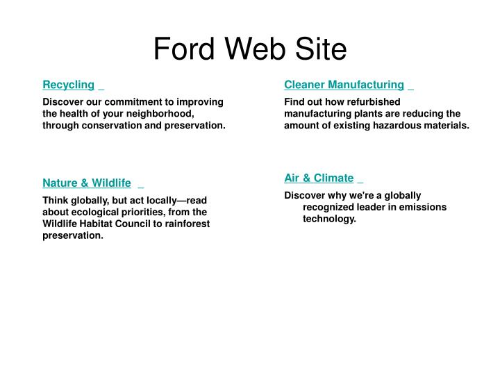 Ford Web Site
