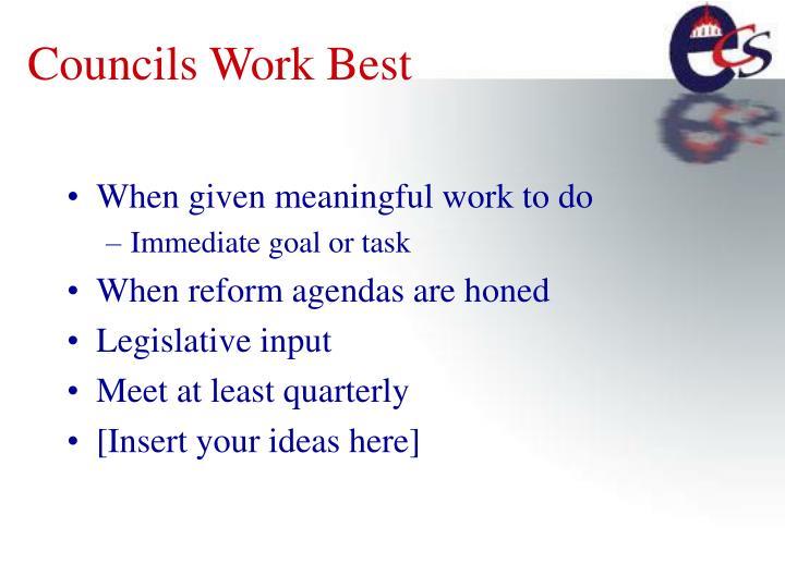 Councils Work Best