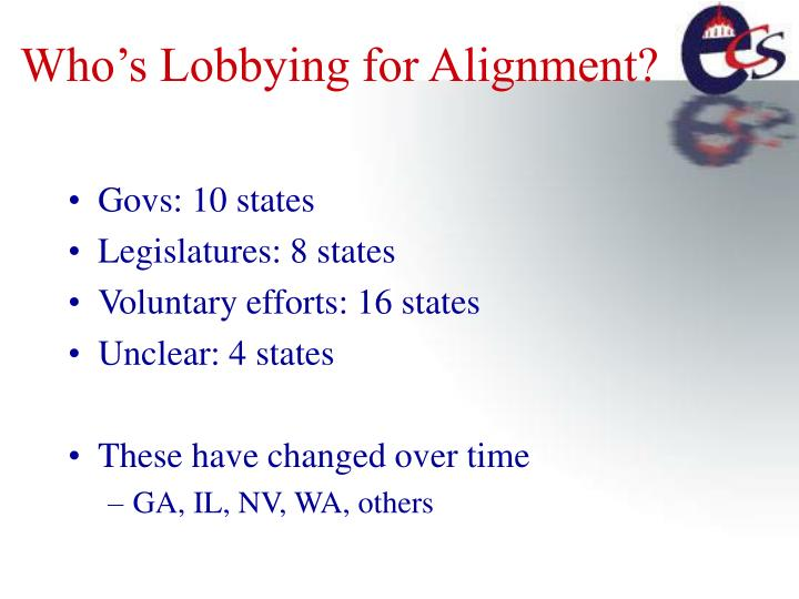 Who's Lobbying for Alignment?